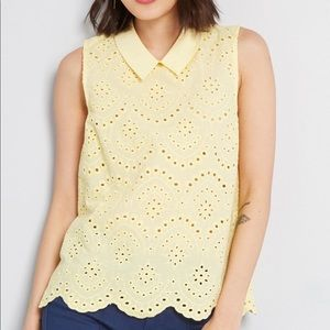 NWT ModCloth Eyelet in the Sun Blouse